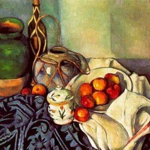 Cezanne, Paul: Still Life with Olive Jar