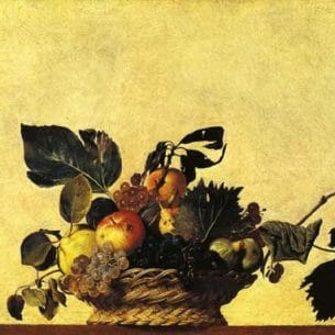 Caravaggio, Michelangelo Merisi da – Still Life with a Basket of Fruit Oil Painting Reproductions