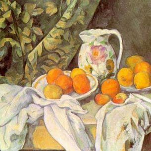 Cezanne, Paul: Still Life with Drapery Oil Painting Reproductions
