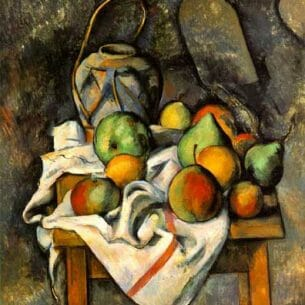 Cezanne, Paul: Ginger Jar and Fruit Oil Painting Reproductions