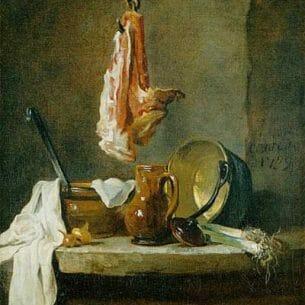 Chardin, Jean-Baptiste-Simeon: Still Life with a Rib of Beef
