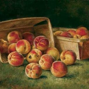 August Laux(USA): Baskets of Peaches Oil Painting Reproductions