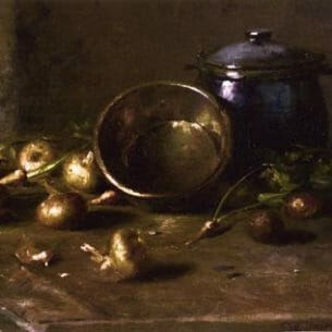 Charles Ethan Porter – Crock, Kettle, and Onions Oil Painting Reproductions
