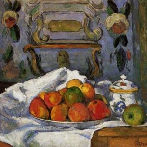 Cezanne, Paul – Dish of Apples Oil Painting Reproductions