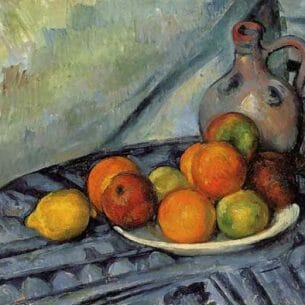 Cezanne, Paul – Fruit and Jug on a Table Oil Painting Reproductions