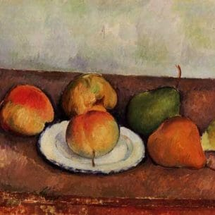 Cezanne, Paul – Still Life – Plate and Fruit Oil Painting Reproductions