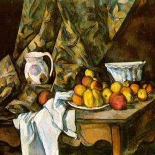 Cezanne, Paul – Still Life with Flower Holder Oil Painting Reproductions