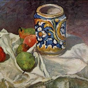 Cezanne, Paul – Still Life with Italian Earthenware Oil Painting Reproductions