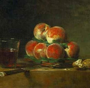 Chardin, Jean-Baptiste-Simeon – Chest with With Peaches and Nuts Oil Painting Reproductions