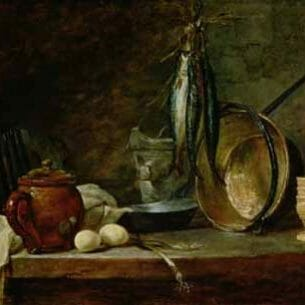 Chardin, Jean-Baptiste-Simeon – Fast Day Menu Oil Painting Reproductions