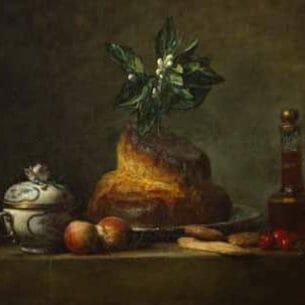 Chardin, Jean-Baptiste-Simeon – La Brioche Oil Painting Reproductions