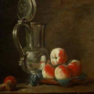 Chardin, Jean-Baptiste-Simeon – Still Life with Tankard Oil Painting Reproductions