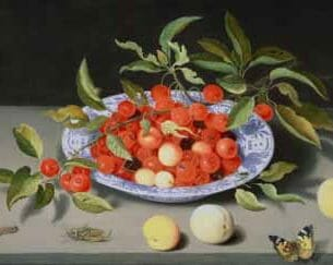 Balthasar Ast – Still Life of Cherries and Peaches Oil Painting Reproductions