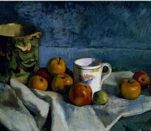 Cezanne, Paul – Still Life with Apples, Cup and Pitcher