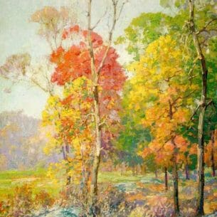 Braun, Maurice: Autumn in New England Oil Painting Reproductions