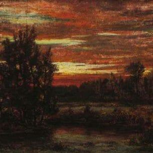 Arthur Turnbull Hill: Winter Sunset, East Hampton