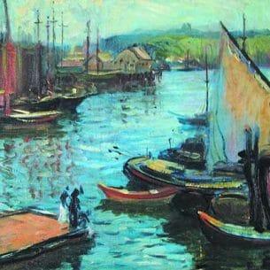 ARTHUR CLIFTON GOODWIN(USA): Harbor Scene