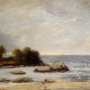 Courbet, Gustave(France) – Seascape at Saint-Aubin Oil Painting Reproductions