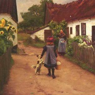 Brendekilde, Hans Anderson: Visiting Grandmother Oil Painting Reproductions