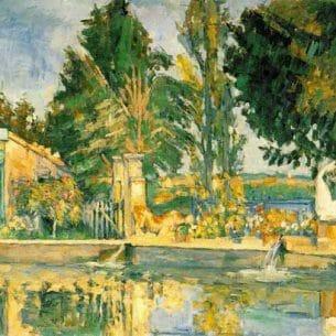 Cezanne, Paul – Jas de Buffan, The Pool Oil Painting Reproductions