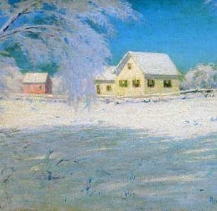 BIRGE HARRISON: Snow Bound Oil Painting Reproductions