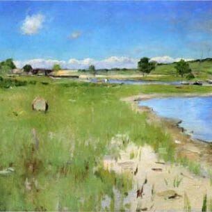Chase, William Merritt(USA): Shinnecock Hills from Canoe Place, Long Island Oil Painting Reproductions