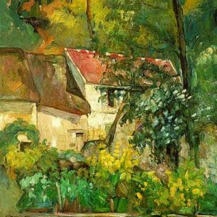 Cezanne, Paul: The House of Pere Lacroix in Auvers Oil Painting Reproductions