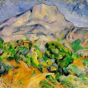 Cezanne, Paul: Mont Sainte-Victoire Oil Painting Reproductions
