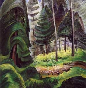Emily Carr(Canadian, 1871-1945): A Rushing Sea of Undergrowth