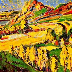 Emily Carr(Canadian, 1871-1945): Autumn in France Oil Painting Reproductions