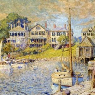 Colin Campbell Cooper – At Edgartown, Martha's Vinyard Oil Painting Reproductions