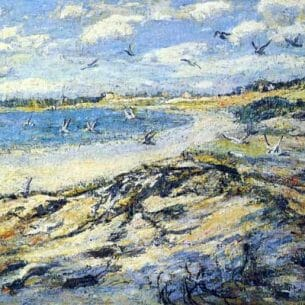 Ernest Lawson – Cape Code Beach Oil Painting Reproductions
