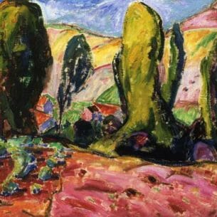 Alfred Henry Maurer – Landscape (also known as Autumn)