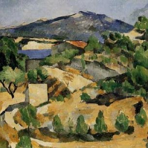 Cezanne, Paul – Houses in Provence – Mountains in Provence (near L'Estaque) Oil Painting Reproductions