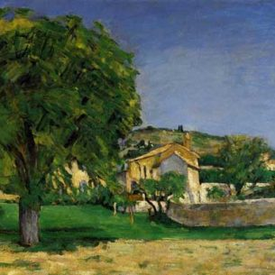 Cezanne, Paul – Chestnut Trees and Farmstead of Jas de Bouffin Oil Painting Reproductions