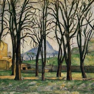 Cezanne, Paul – Chestnut Trees at the Jas de Bouffan Oil Painting Reproductions