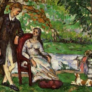 Cezanne, Paul – Couple in a Garden (also known as The Conversation) Oil Painting Reproductions