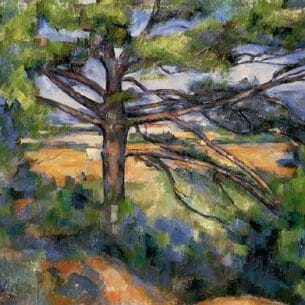Cezanne, Paul – Large Pine and Red Earth Oil Painting Reproductions