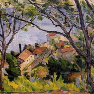Cezanne, Paul – L'Estaque, View through the Trees Oil Painting Reproductions
