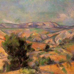 Cezanne, Paul – Mount Sainte-Victoire Seen from Gardanne Oil Painting Reproductions