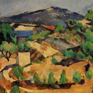 Cezanne, Paul – Mountains in Provence (near L'Estaque) Oil Painting Reproductions