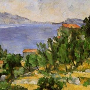 Cezanne, Paul – The Bay of L'Estaque from the East Oil Painting Reproductions