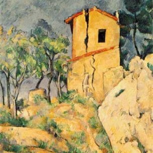 Cezanne, Paul – The House with Cracked Walls Oil Painting Reproductions
