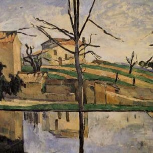 Cezanne, Paul – The Pool at Jas de Bouffan Oil Painting Reproductions