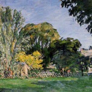 Cezanne, Paul – The Trees of Jas de Bouffan Oil Painting Reproductions