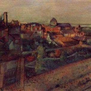 Degas, Edgar – View of Saint-Valery-sur-Somme Oil Painting Reproductions