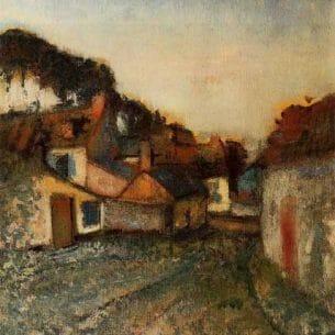 Degas, Edgar – Village Street Oil Painting Reproductions