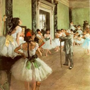 Degas, Edgar: Dance Class Oil Painting Reproductions