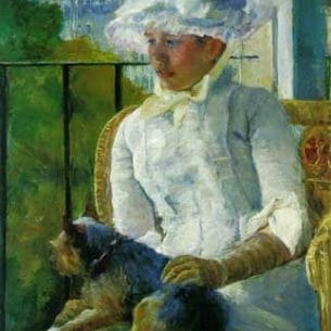 Cassatt, Mary(USA): Woman with Dog Oil Painting Reproductions