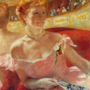 Cassatt, Mary(USA): Woman With A Pearl Necklace In A Loge Oil Painting Reproductions